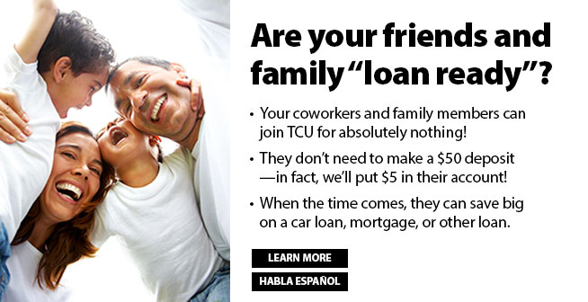 """Are your friends and family """"loan ready""""?"""