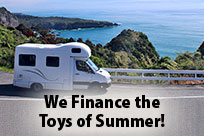 We Finance the Toys of Summer!