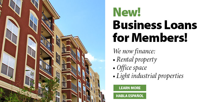 New! Business Loans for Members!
