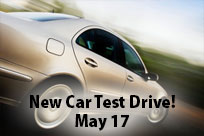 Take a New Car Test Drive on May 17!